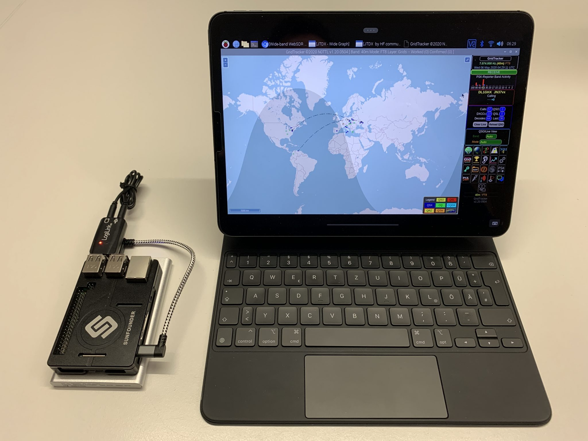 GridTracker on iPad