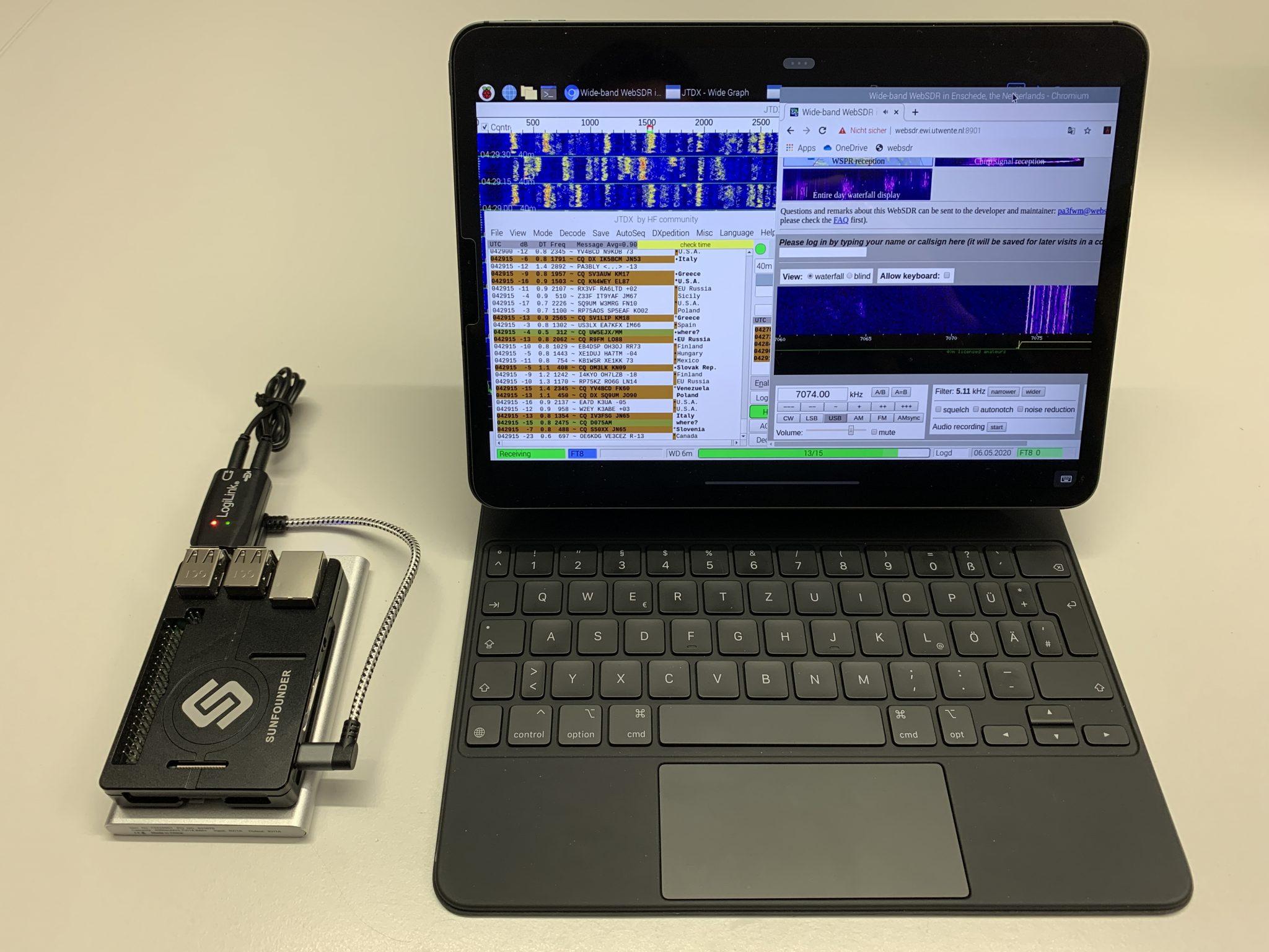 iPad with Raspberry Pi3