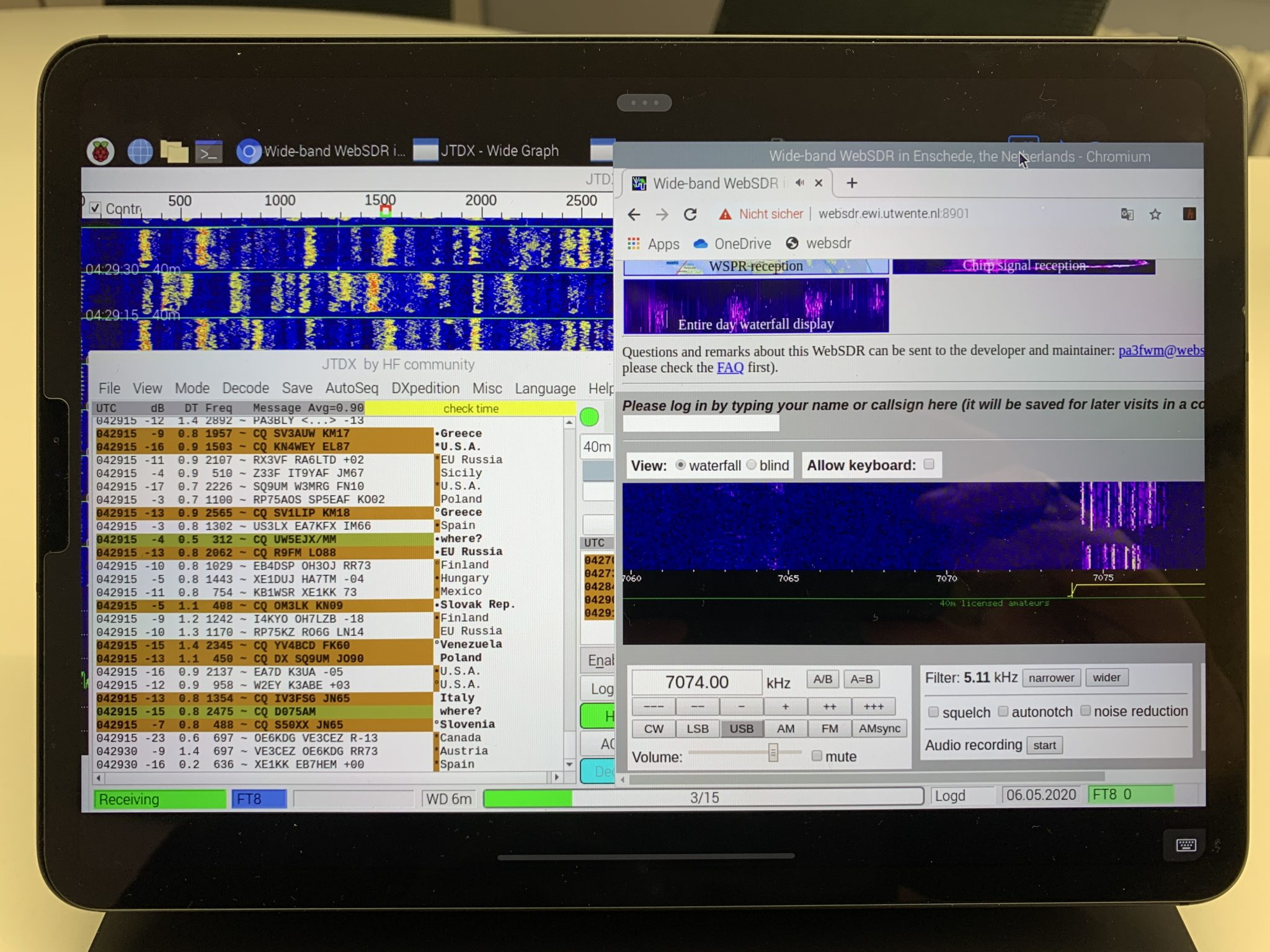 JTDX and WebSDR