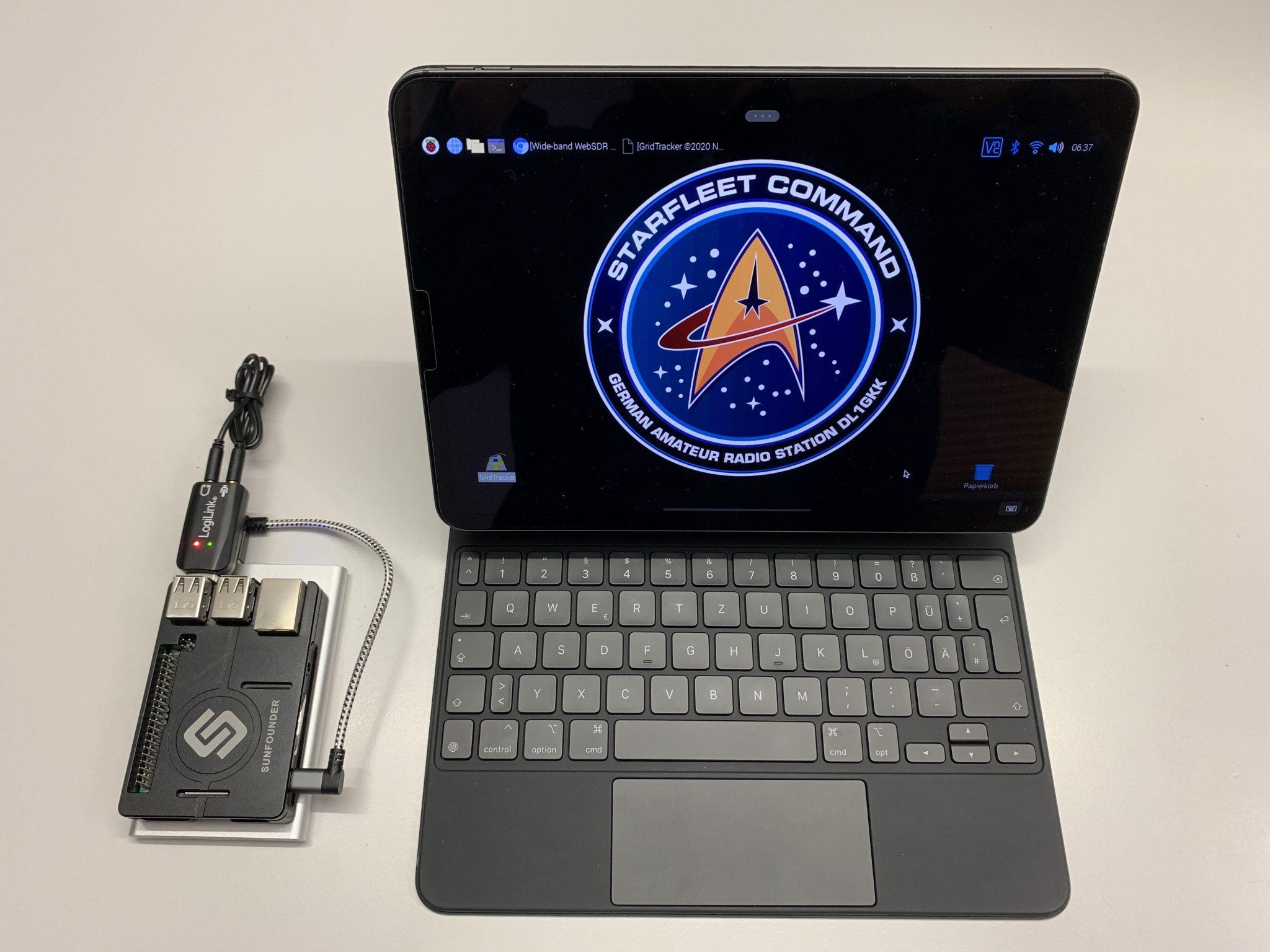 Star Fleet Command Logo on iPad