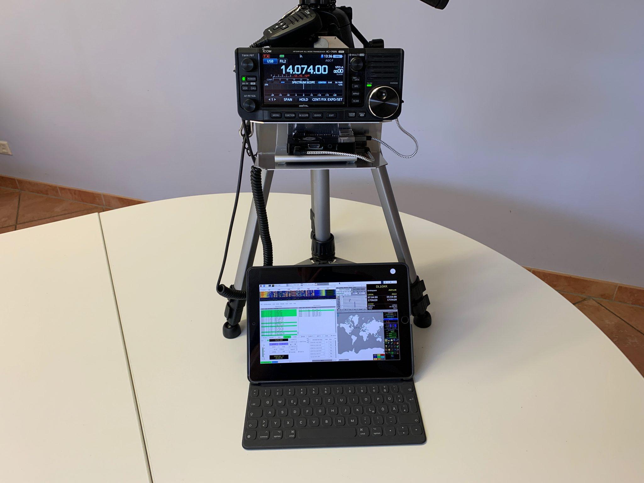 IC705-Raspberry Pi3-iPad